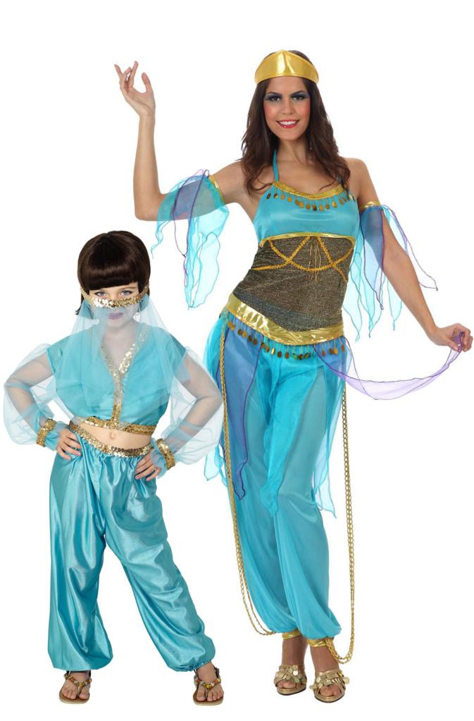 deguisement-de-couple-danseuses-orientales-bleues-mere-et-fille_223136