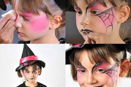 halloween-makeup-ideas-kids-girl-pink-spider-web-witch-500x332